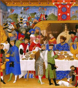 Medieval Christmas feast